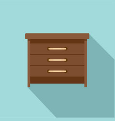drawers icon flat style vector image