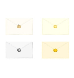 Envelopes for Halloween vector image