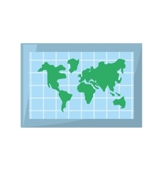 globe world map location vector image