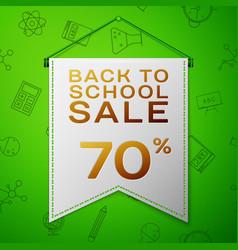 Grey pennant back to school sale seventy percent vector