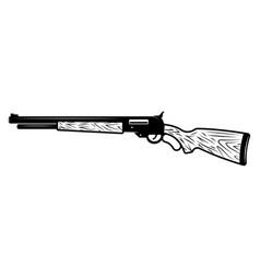 gun rifle in monochrome style vector image