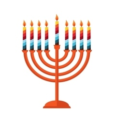 happy hanukkah jewish holiday Hanukkah meora vector image