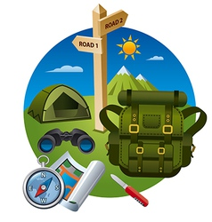 Hiking icon concept vector