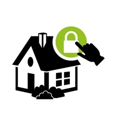 home security technology digital system vector image