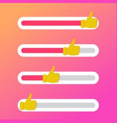 indicator like slide for social network sliding vector image