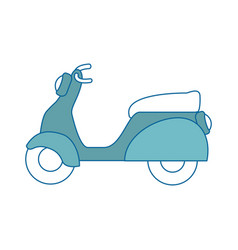 isolated cute motorcycle vector image