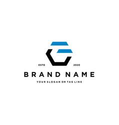 Letter cf logo design vector
