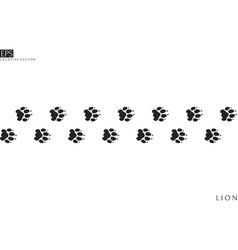 lion paw prints vector image