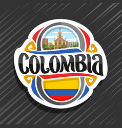 Logo for colombia vector