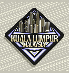 logo for kuala lumpur vector image