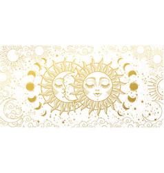 Magic background for tarot astrology vector