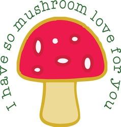 Mushroom Love vector image