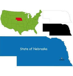 nebraska map vector image