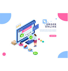 online order customer purchase vector image