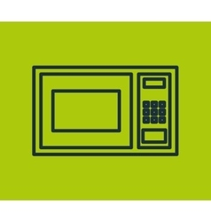 Oven microwave appliance isolated icon vector