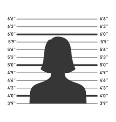 Police Lineup with Woman Silhouette vector image