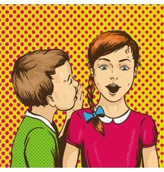 Pop art retro comic Kid vector