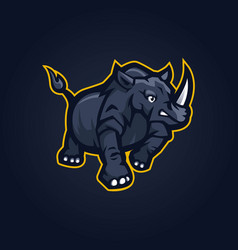 rhino sport logo vector image