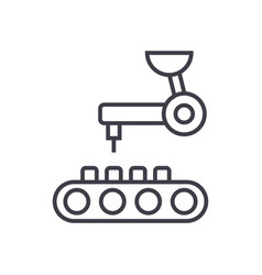robotic technology line icon sign vector image