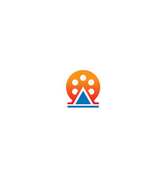 round movie cinema roll logo vector image