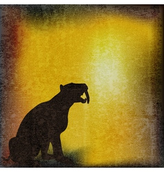 sabretoothed tiger vector image