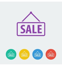 sale flat circle icon vector image