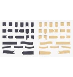 set black and brown ribbons vector image