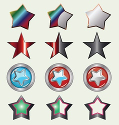 Set Of Rating Stars vector