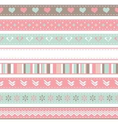 Set of seamless ribbons vector