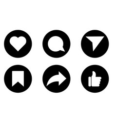 Social media icons like comment share save vector