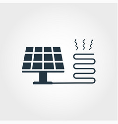 solar heating creative icon monochrome style vector image
