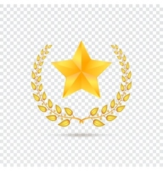 Star on transparent background vector
