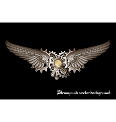 Steampunk wings vector