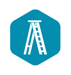 Stepladder icon in simple style vector