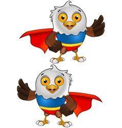 Super Bald Eagle Character 3 vector image