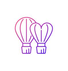 Taiwan international balloon festival gradient vector