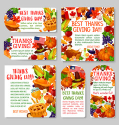 Thanksgiving day holiday tag and label set design vector