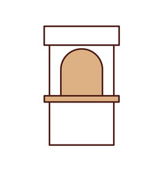 theater box office icon vector image