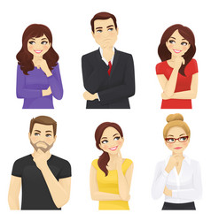thoughtful people vector image