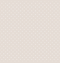 Tile pattern with white polka dots on pastel beige vector
