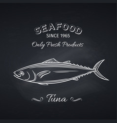 tuna hand drawn icon vector image