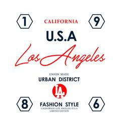 Usa los angeles typography design vector