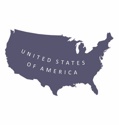 usa silhouette map vector image