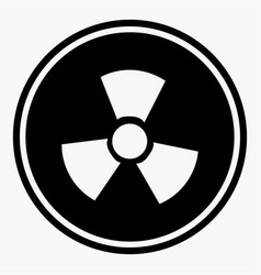 Warning colorless round sign radiation on white vector
