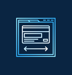 web page with credit card colored icon on dark vector image