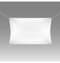 White Blank Empty Horizontal Rectangular Banner vector image