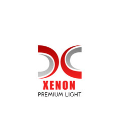 xenon light symbol with modern font of x letter vector image