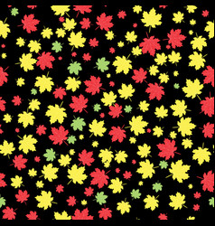 autumnal maple leaves seamless pattern vector image vector image