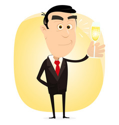 champagne party vector image