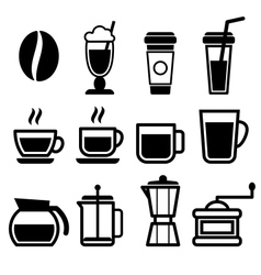 Coffee Drinks Icons vector image